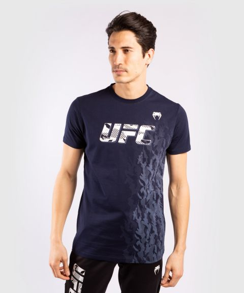 Maglia in Cotone a Maniche Corte Uomo UFC Venum Authentic Fight Week - Blu Navy