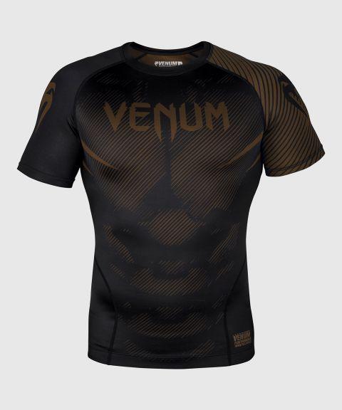 Venum NoGi 2.0 Rashguard - korte mouwen - zwart/bruin