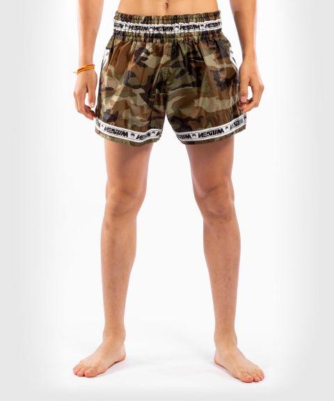 Pantalones cortos Venum Muay Thai Parachute - Camuflaje bosque