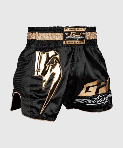 Pantalones cortos de Muay Thai Venum Petrosyan - Negro/Oro
