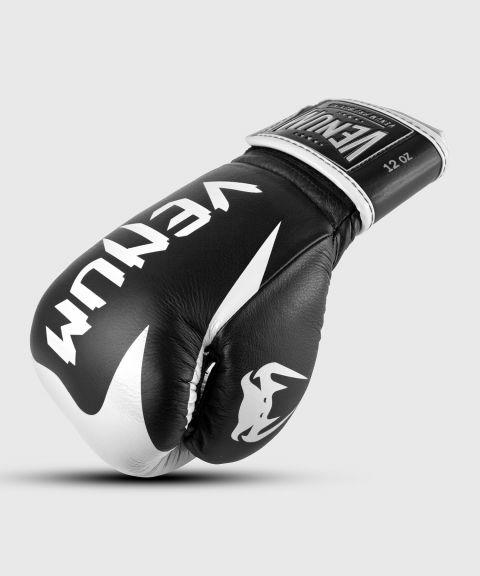 Guantoni da boxe professionali Venum Hammer – Velcro - Nero/Bianco