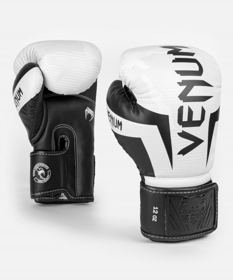 Venum Elite Boxing Gloves - White/Camo