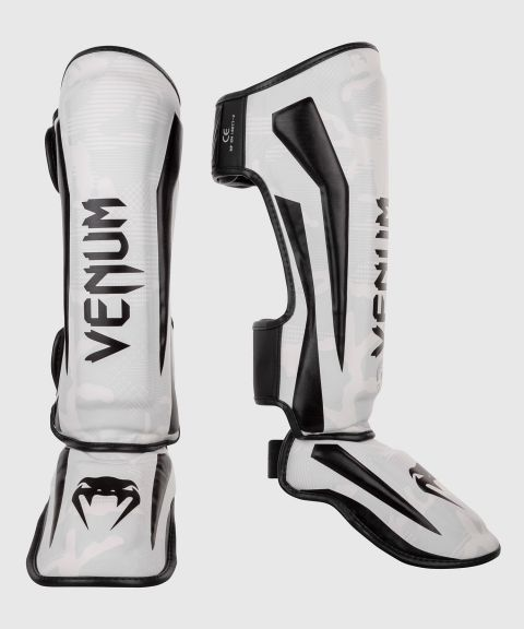 Venum Elite Shin Guards - White/Camo