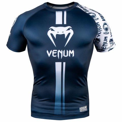 Rashguard Venum Logos - Maniche corte - Blu navy/Bianco