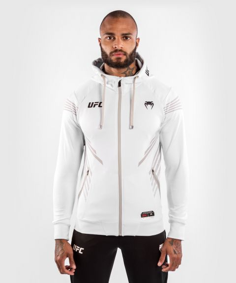 Felpa Con Cappuccio Walkout Uomo UFC Venum Authentic Fight Night - Bianco