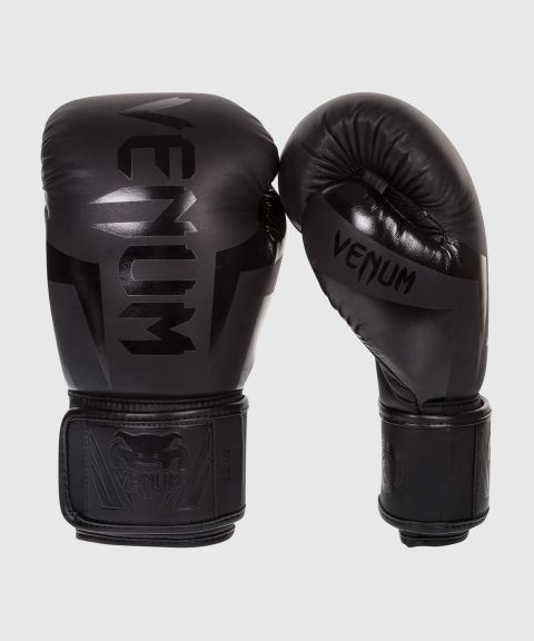 Venum Elite Boxing Gloves - Black
