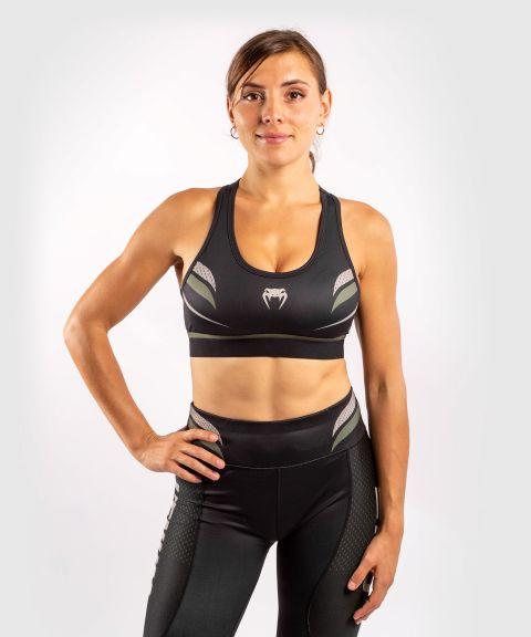 Sujetador deportivo ONE FC Impact - Mujer - Negro/Caqui
