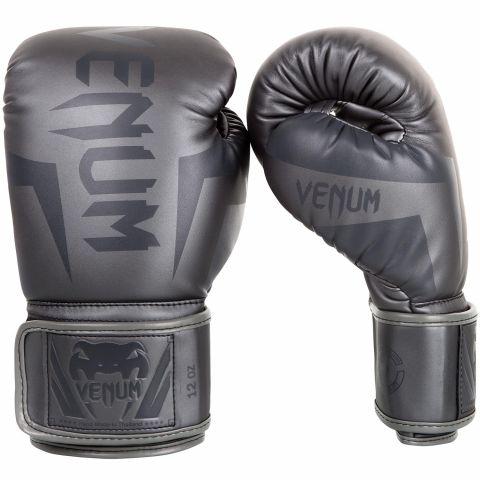 Venum Elite Boxing Gloves - Grey/Grey