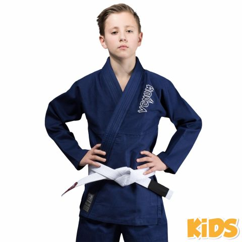 Kimono JJB enfant Venum Contender + Ceinture blanche offerte - Bleu marine