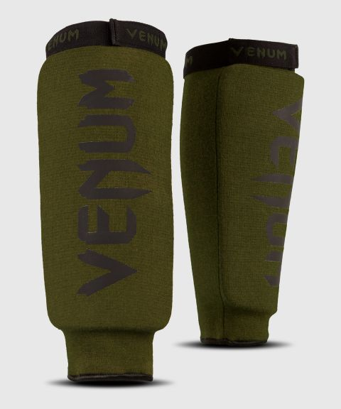 Venum Kontact Shin Guards - without foot - Khaki/Black