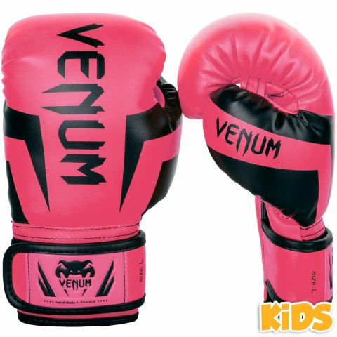Venum Elite Boxing Gloves Kids - Exclusive - Fluo pink