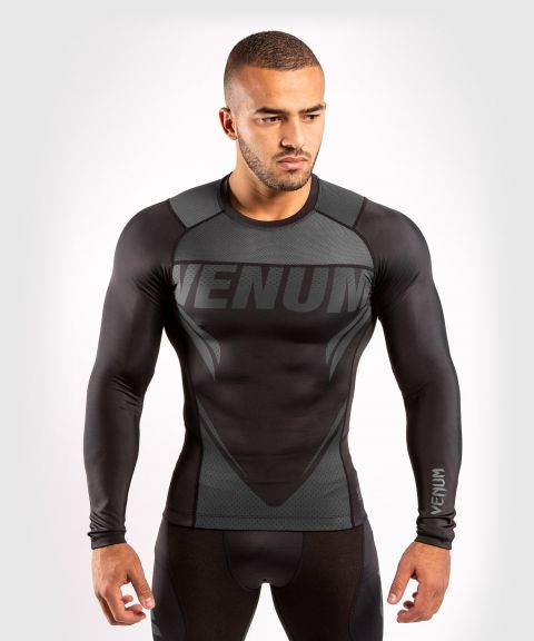 T-shirt de compression Venum ONE FC Impact - manches longues - Noir/Noir