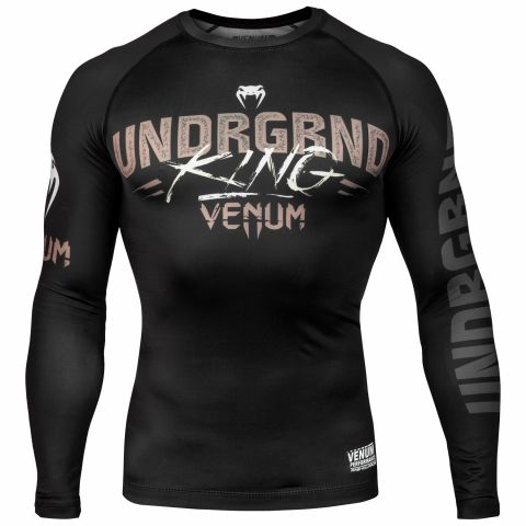 Venum Underground King Rashguard - Long Sleeves - Black/Sand