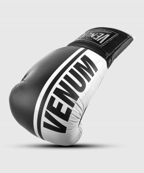 Guantoni da boxe professionali Venum Shield – Lacci - Nero/Bianco