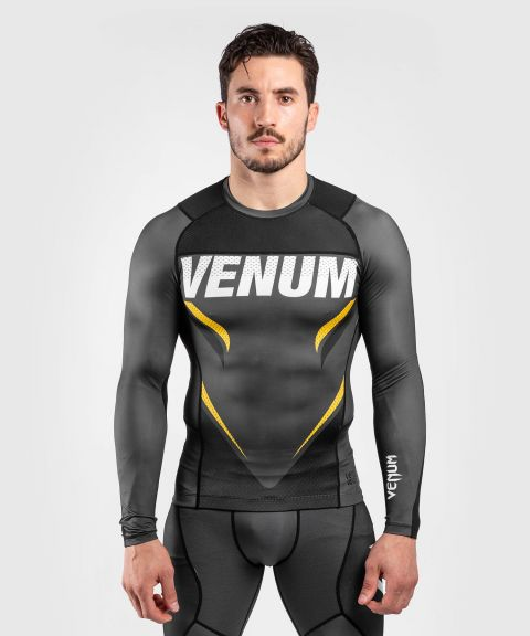 Venum ONE FC Impact Rashguard - long sleeves - Grey/Yellow