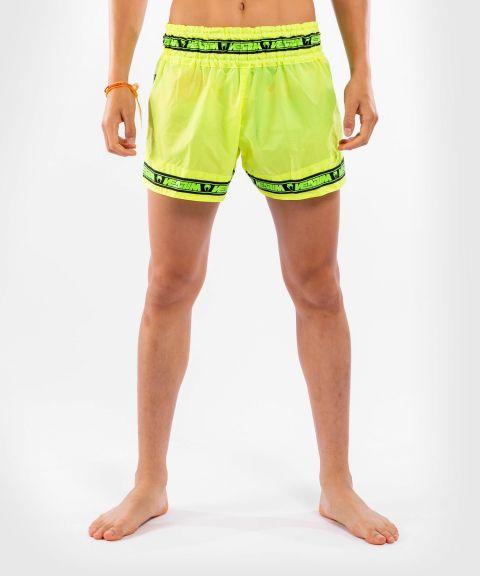 Pantalones cortos Venum Muay Thai Parachute - Amarillo neón