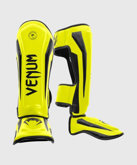 Venum Elite Standup Scheenbeschermers - Oranje/zwart - Geel