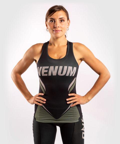 Camiseta sin mangas Dry-Tech ONE FC Impact - Mujer - Negro/Caqui