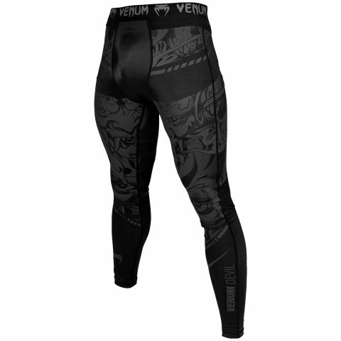 Venum Devil Compresssion Tights - Black/Black
