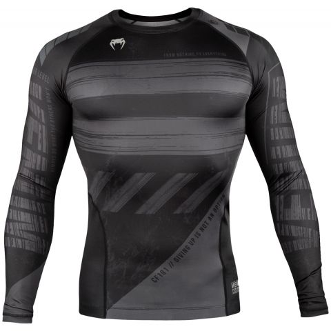 T-shirt a compressione Venum AMRAP - Maniche lunghe - Nero/Grigio