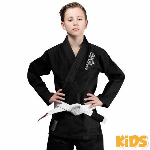 Kimono JJB enfant Venum Contender + Ceinture blanche offerte - Noir