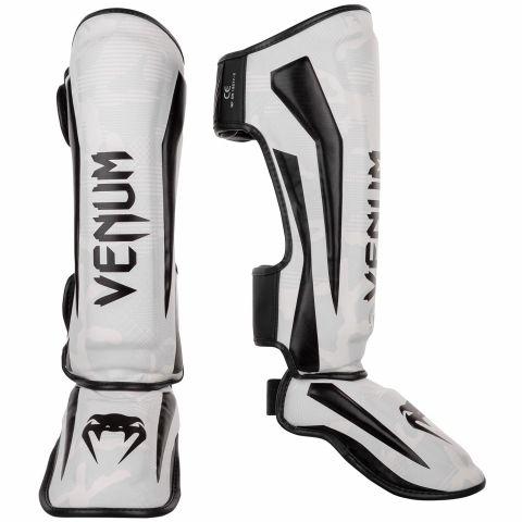 Espinilleras Venum Elite - White/Camo