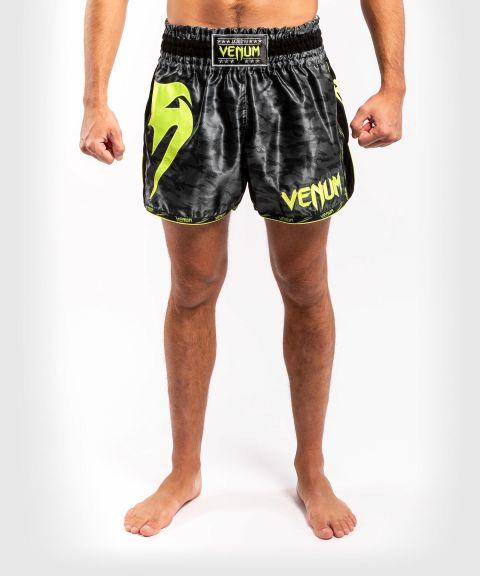Pantaloncini da Muay Thai Venum Giant Camo - Nero/Giallo