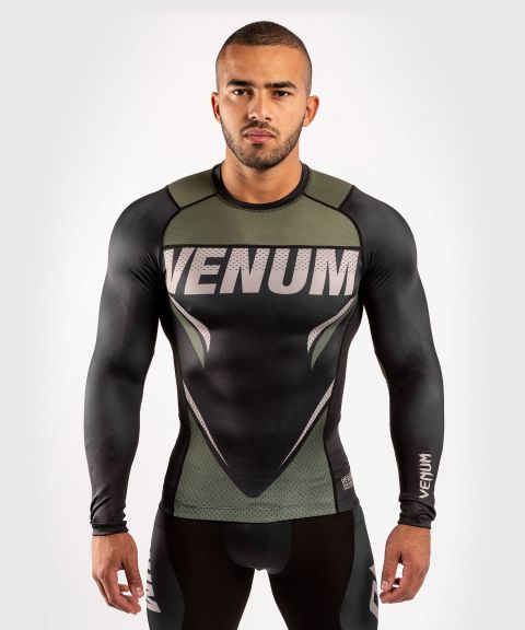 T-shirt de compression Venum ONE FC Impact - manches longues - Noir/Kaki