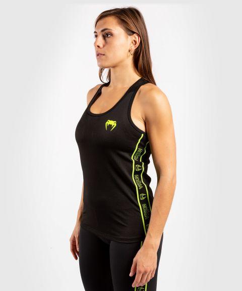 Camiseta Sin  Mangas Tecmo - Para Mujer - Negro/Amarillo Fluo