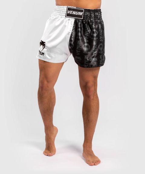 Pantalones cortos Venum Logos Muay Thai - Negro/Blanco