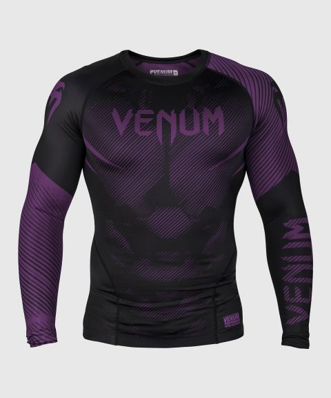 Venum NoGi 2.0 Rashguard - lange mouwen - zwart/paars