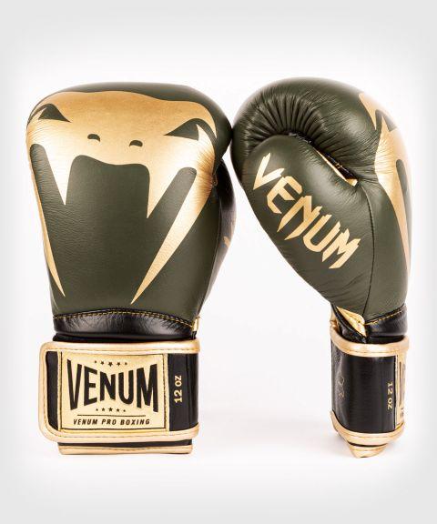 Venum Giant 2.0 professionelle Boxhandschuhe - Klettverschluss - Khaki/Gold