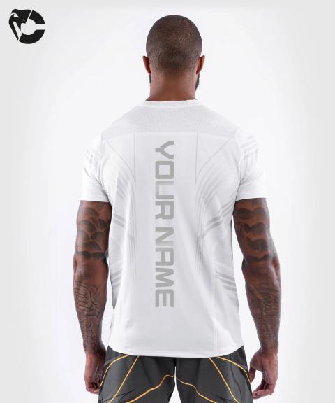 Camiseta Técnica Para Hombre Personalizada UFC Venum Authentic Fight Night - Blanco