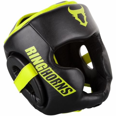 Casco Ringhorns Charger - Negro / Amarillo Fluo
