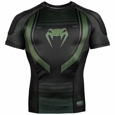 Venum Technical 2.0 Rashguard - Short Sleeves - Black/Khaki - Exclusive