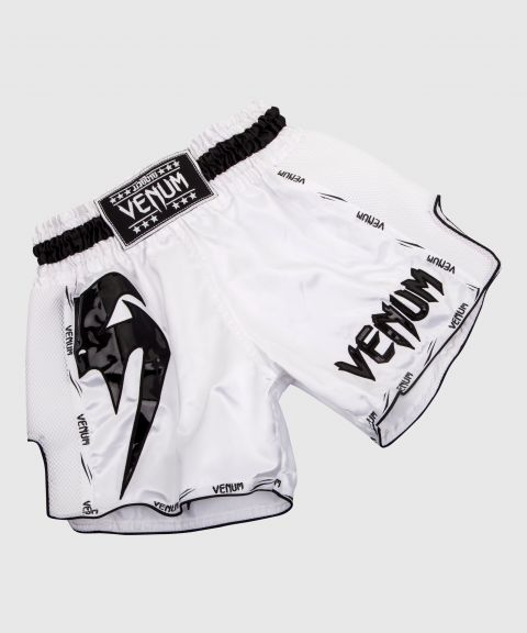 Venum Giant Muay Thai Short - Wit/Zwart
