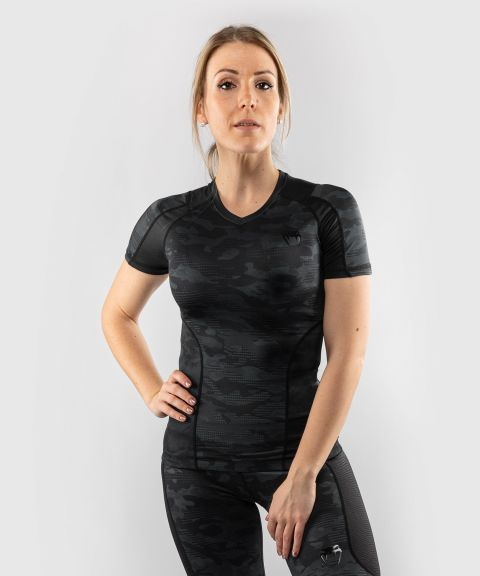 Venum Defender Rashguard - Short Sleeves - Black/Black
