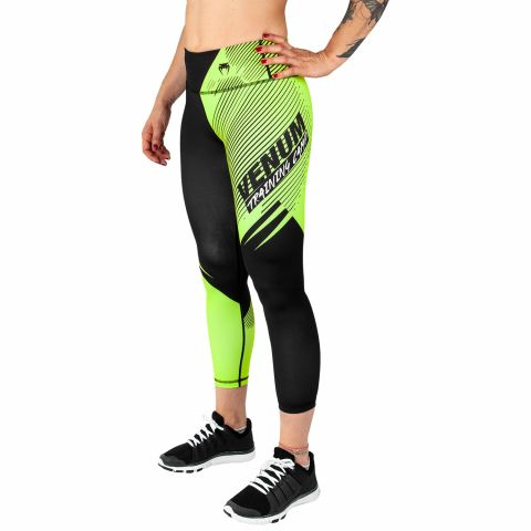 Venum Training Camp 2.0 Cropped Leggings - Black/Neo Yellow - For Women - Exclusive