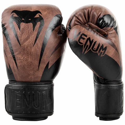 Venum Impact Boxing Gloves - Black/Brown