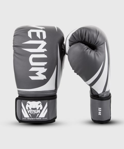 Venum Challenger 2.0 Boxing Gloves - Grey/White-Black