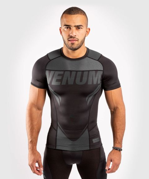 T-shirt de compression Venum ONE FC Impact - manches courtes - Noir/Noir