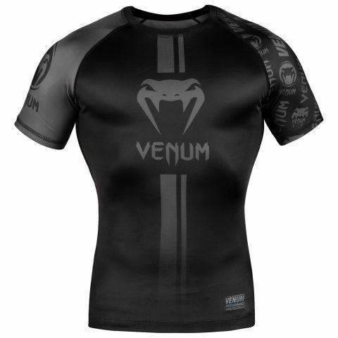 Venum Logos Rashguard - Korte mouwen - Zwart/Zwart