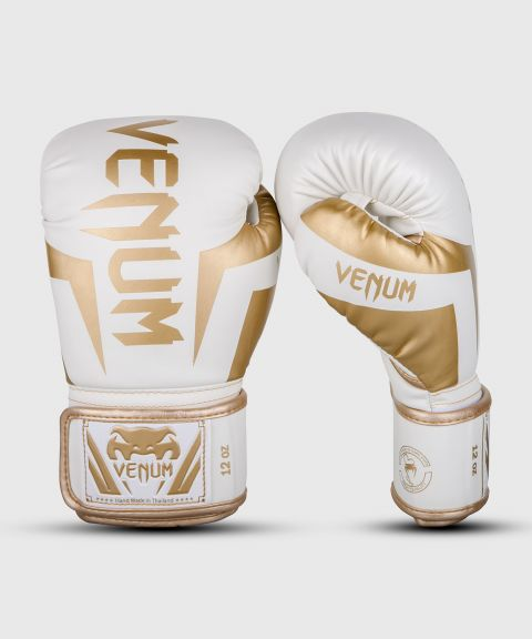 Venum Elite Boxing Gloves - White/Gold