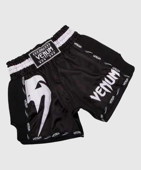 Pantalones Cortos de Muay Thai Venum Giant - Negro/Blanco