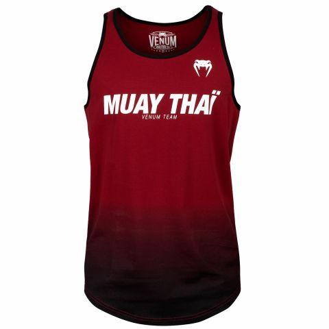 Canotta Muay Thai VT Venum - Rosso vino/Nero