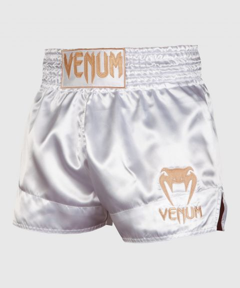 Short de Muay Thai Venum Classic - Blanc/Or