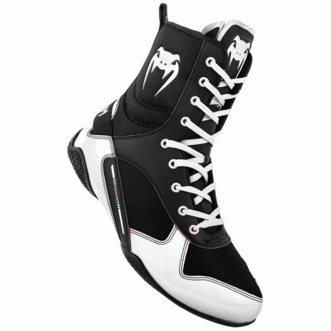 Venum Elite Boxing Shoes - Black/White
