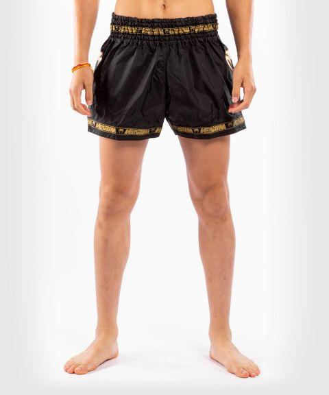 Pantalones cortos Venum Muay Thai Parachute - Negro/Dorado