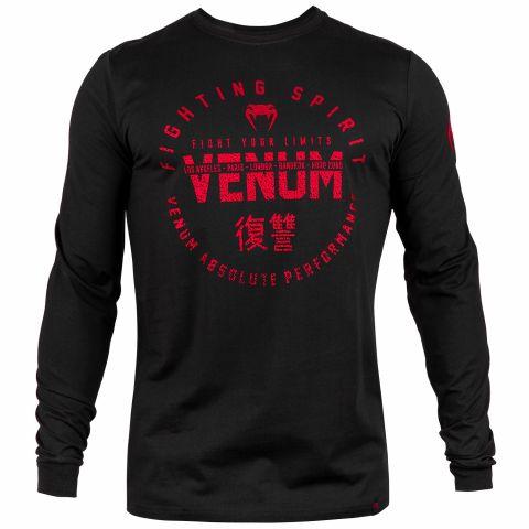 Venum Signature T-shirt - lange mouwen - Zwart/Rood