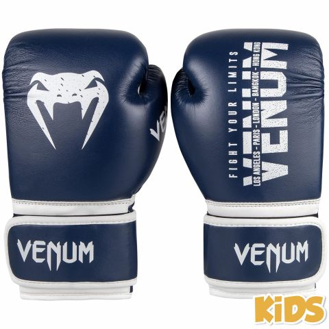 Venum Signature Kids Boxing Gloves - Navy Blue